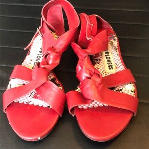 Harajuku Lovers Faux leather sandals